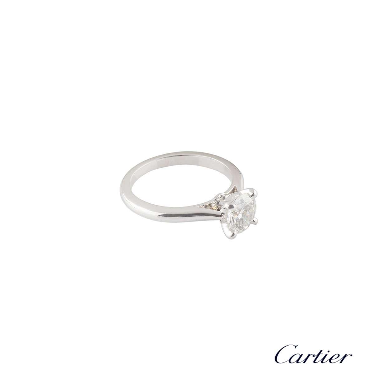 Cartier Platinum Diamond 1895 Solitaire Ring 1.09ct G/VVS2 XXX N4163650